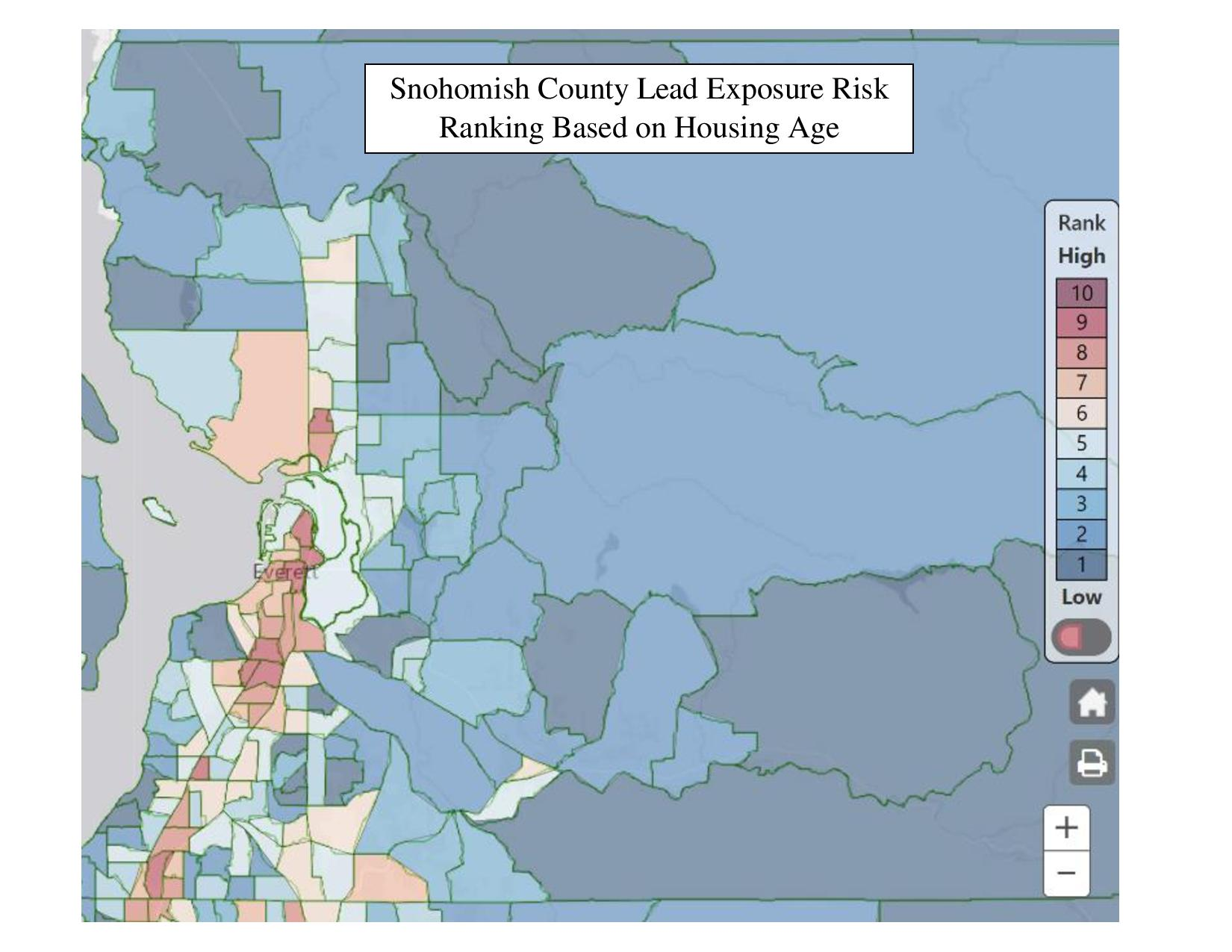 Lead in Children | Snohomish Health District, WA Indusrial Snohomish County Map on
