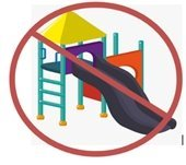 Do not play on playground equipment