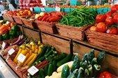 Farmers market fruits and veggies