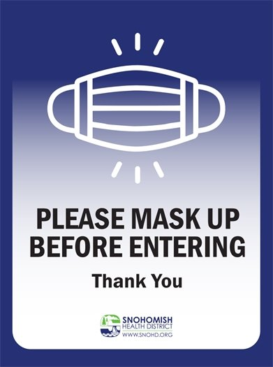 Please mask up sign