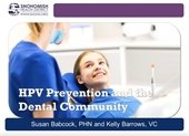 HPV Prevention and the Dental Community