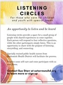 picture of listening circle flyer